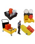 SPILL STATION, BINS / CARTS AND SPILL TRAYS