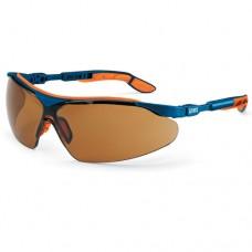 UVEX, 9160-068 I-VO SPECTACLE, BLUE/ORANGE,LENS:PC SCT BROWN