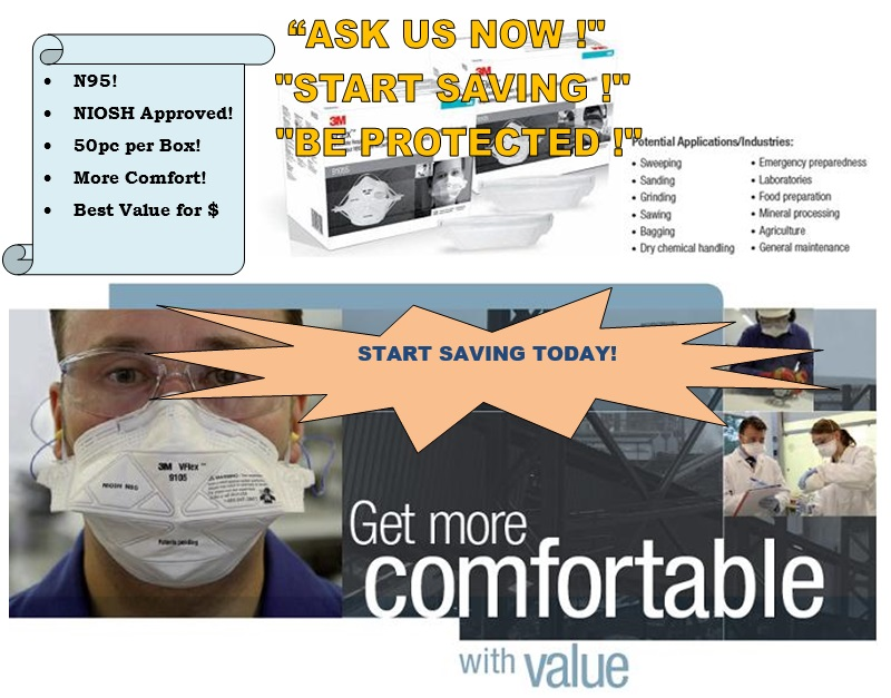 BEAT THE HAZE! 3M N95 Masks! Buy direct from distributor