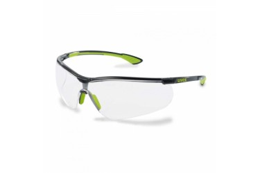 UVEX, 9193-226 SPORTSTYLE, BLACK/LIME, LENS: CLEAR