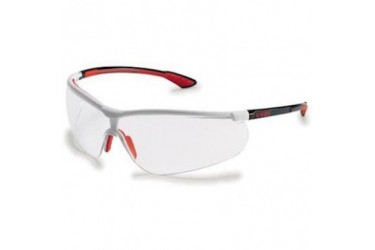UVEX, 9193-216 SPORTSTYLE, BLACK/WHITE/RED, LENS: CLEAR