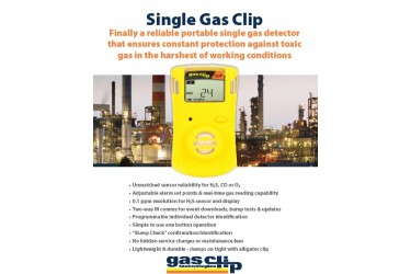 RENTAL - GAS CLIP, SGC-H SINGLE GAS DETECTOR, H2S (HYDROGEN SULFIDE), YELLOW