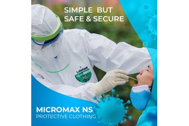 LAKELAND MICROMAX NS AMN428E, SIZE: LARGE, COVERALL WITH HOOD, WHITE - Pandemic use