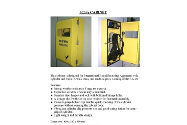 SELF CONTAINED BREATHING APPARATUS (SCBA) CABINET/ BOX