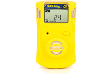 GAS CLIP, SGC-O SINGLE GAS DETECTOR, O2,19.5%/23.0%,YELLOW