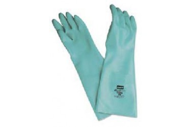 "HONEYWELL, NITRILE GLOVES, 18""/25MIL, LA258G/9"