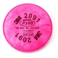 3M™ Particulate Filter 2091, P100 Respiratory Protection, 2pcs/packet
