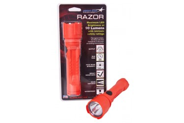 BRIGHTSTAR 60102 RAZOR LED FLASHLIGHT, UL, 125 LUMENS, ORANGE