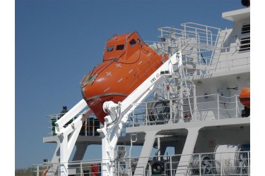 DAVIT INTERNATIONAL, D-FH - DAVIT SYSTEM FOR FREE FALL LIFEBOAT, FOLDABLE