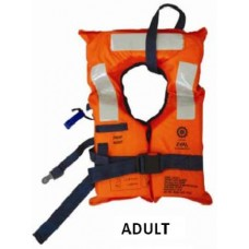 EVAL 2010-3 FOAM LIFEJACKET SOLAS 2010,ADULT WITH WHISTLE