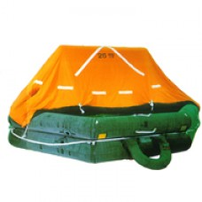 FUJIKURA FRN-SN15, 15 PERSON THROW OVERBOARD LIFERAFT, COMPLETE