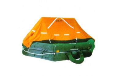 FUJIKURA FRN-SN10, 10 PERSON THROW OVERBOARD LIFERAFT, COMPLETE