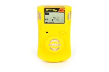 GAS CLIP, SGC-H SINGLE GAS DETECTOR, H2S (HYDROGEN SULFIDE), YELLOW