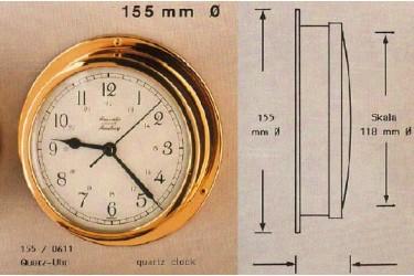 """HANSEATIC, P/N: 155/0611 QUARTZ CLOCK, 4.65"""" DIAL"""