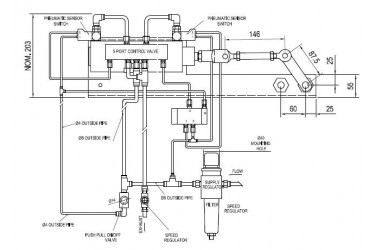 HEPWORTH PNEUMATIC WIPER SYSTEMS, COMPLETE