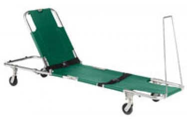 JUNKIN EASY-FOLD WHEELED STRETCHER WITH ADJUSTABLE BACK REST JSA-604-S