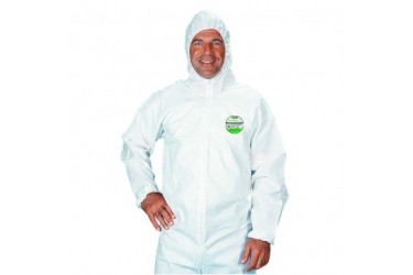 LAKELAND SAFEGARD GP, DISPOSABLE COVERALL WITH HOOD