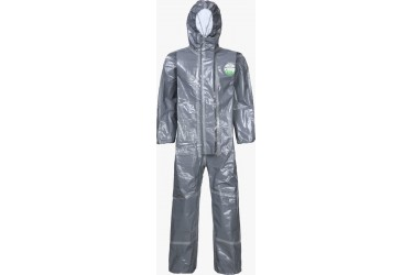 LAKELAND CHEMMAX3, CT3S428E, COVERALL ATTACHED HOOD, SZ: LARGE, GREY