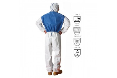 LAKELAND, MICROMAX NS COOL SUIT, AMNC428E, COOL SUIT COVERALL,SZ: LARGE, WHITE