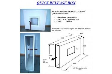 L, QUICK RELEASE BOX, FIBERGLASS FOR LIFEBUOY