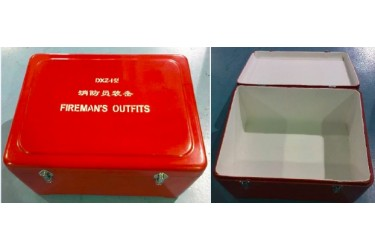 RS, FIBREGLASS STORAGE BOX, RED, 71(L) X 57(W) X 35(H) CM