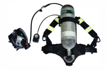 RS, RHZK6-S  SCBA WITH ELECTRONICS GAUGE C/W 1PC 6L/300BAR STEEL CYLD, DIN, EC/MED APPROVED
