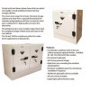 SPILL STATION, POLY CORROSIVE CHEMICAL STORAGE CABINETS