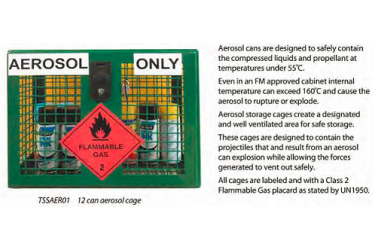 SPILL STATION, AEROSOL STORAGE CAGES