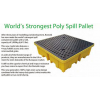 SPILL STATION, SPILL CONTAINMENT PALLETS, 4 WAY 4 DRUM
