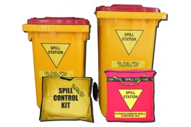 SPILL STATION, OIL AND FUEL SPILL KITS
