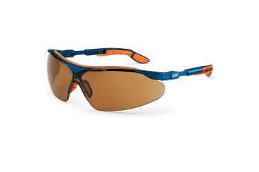 UVEX, 9160-068 I-VO SPECTACLE, BLUE/ORANGE,LENS:PC SCT BROWN