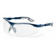 UVEX, 9160-285 I-VO SPECTACLE, BLUE/GREY, LENS: PC CLEAR