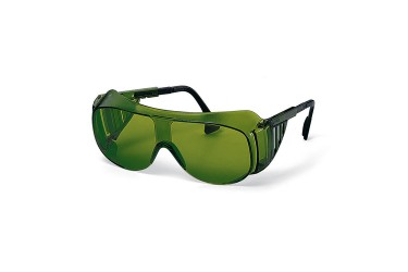 UVEX, 9162-044 OTG SPECTACLES, BLACK/BLACK, LENS: PC GREEN