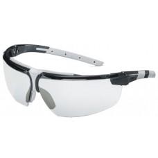 UVEX, 9190-280, i-3 CLEAR, BLACK/LIGHT GREY