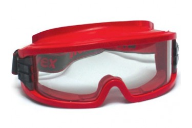 UVEX, 9301-603 ULTRAVISION GOGGLES, RED, GASTIGHT, PC CLEAR
