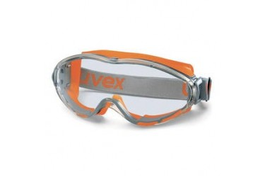 UVEX, 9302-245 ULTRASONIC GOGGLES, ORANGE/GREY, PC CLEAR