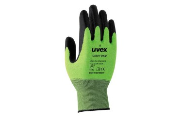 UVEX,HELIX C500, 60494, 5-FINGER GLOVES, 27CM, FOAM,SIZE: 07