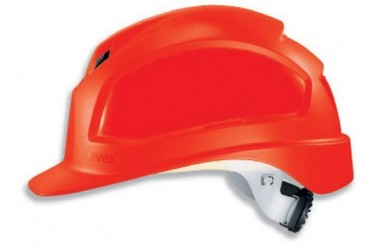 UVEX, PHEOS B-WR, LONG BRIM, VENTED, SAFETY HELMET, RED, 9772 339